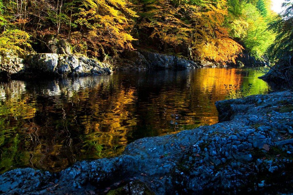 Autumn Ripples, River Garry